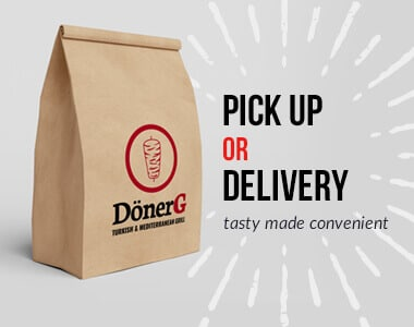Pick Up or Delivery. Tasty made convenient