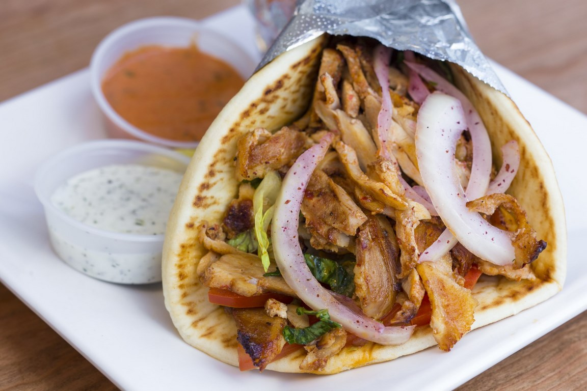 Doner Pita Sandwich with Fries