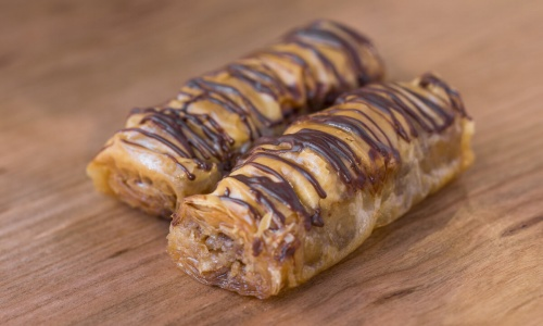 Chocolate Walnut Baklava, Turkish Food & Mediterranean Food
