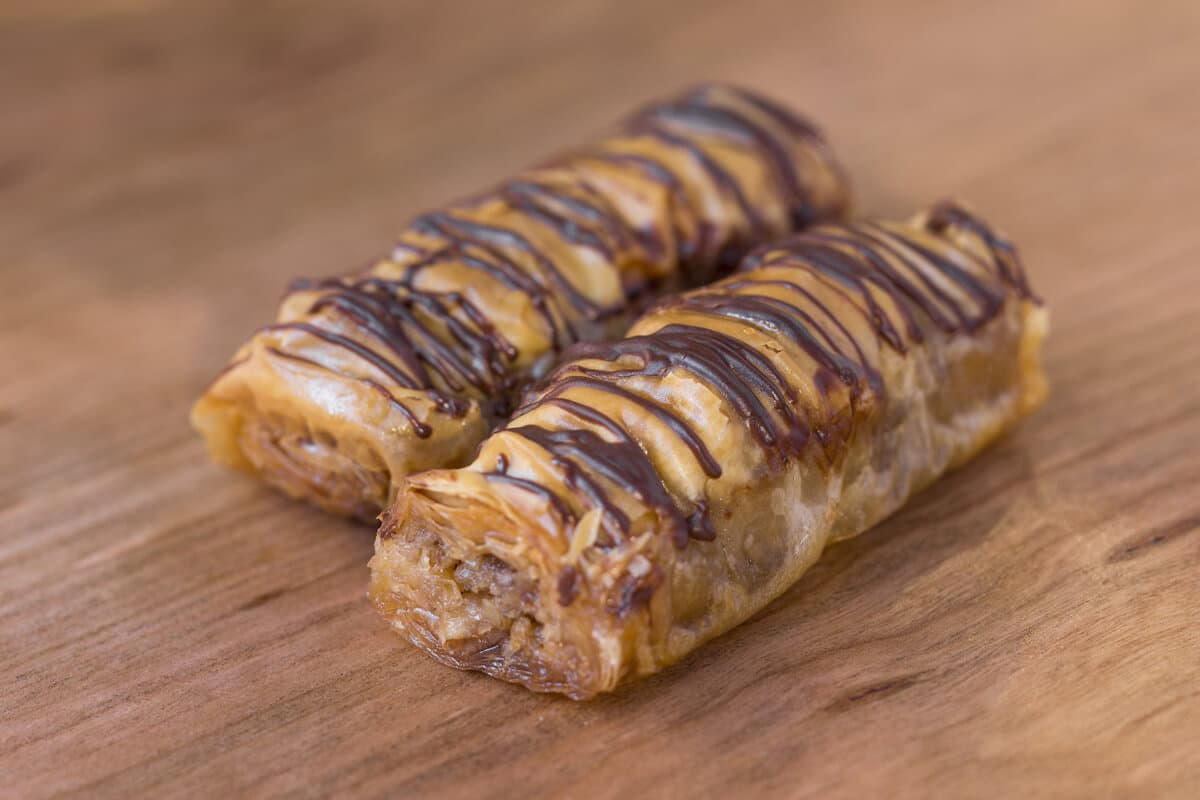 Chocolate Walnut Baklava (2 Pieces)