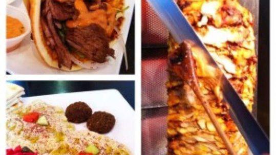 Image Showing Pita Sandwich, Doner and Hummus