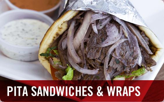 Mediterranean Food - Pita Sandwiches and Wraps