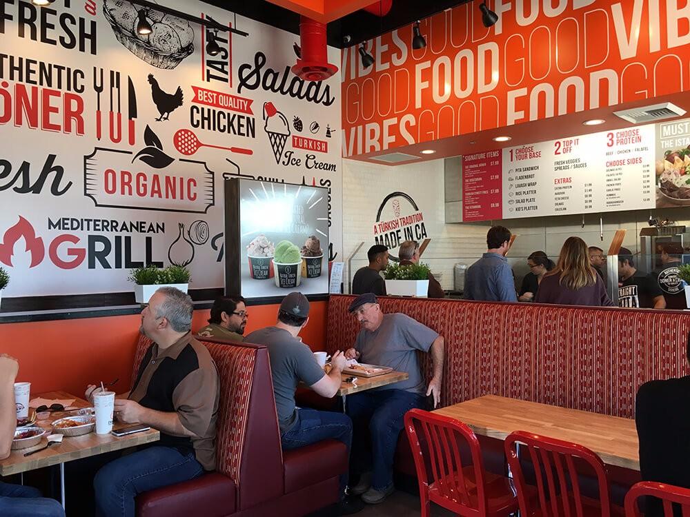 Inside best mediterranean restaurant southern California
