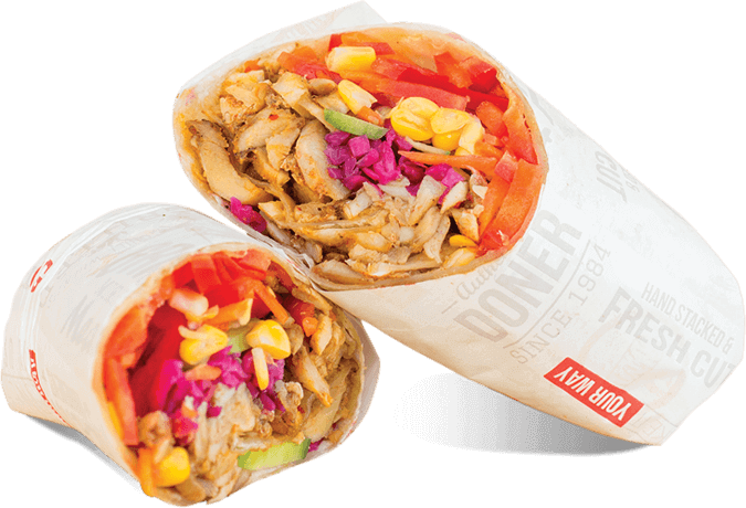 Doner Wrap Turkish Food