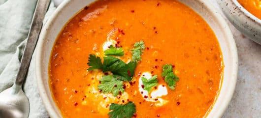 How to make Greek Red Lentil Soup