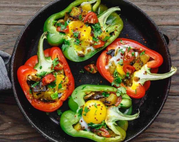 Easy Breakfast Stuffed Peppers