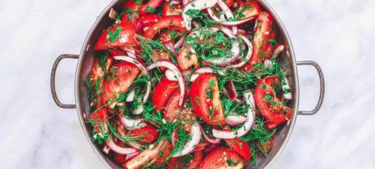 Mediterranean Tomato Feta Salad Recipe