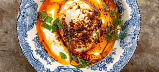 Cilbir: Turkish Eggs in Garlicky Yogurt Sauce