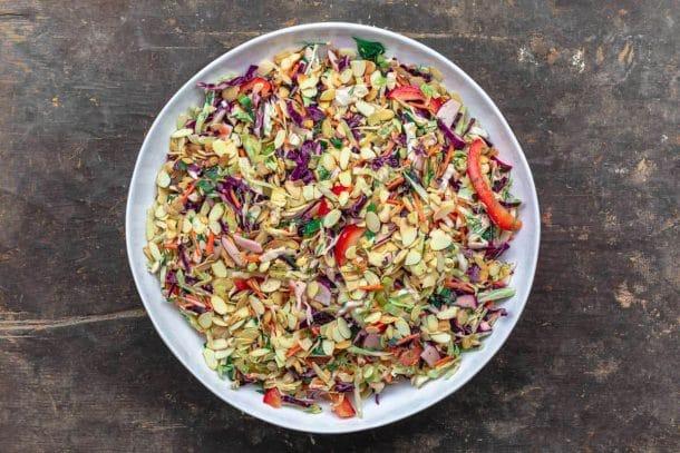 Mediterranean Cabbage Salad (No Mayo Coleslaw)